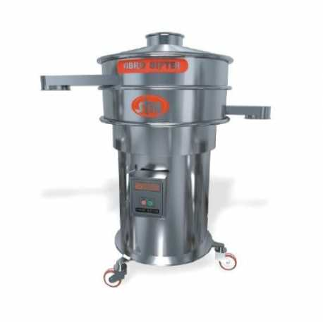 Vibrating sieving machine diameter 700 mm - GMP standards compliant - New cosmetic and pharmaceutical industrial equipment
