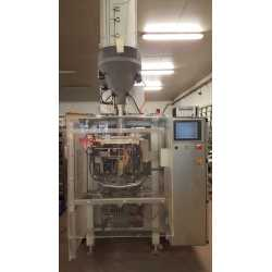 Used Bosch bagging machine model SVK 2500 A with doser second-hand cosmetic and pharmaceutical industrial equipment - front view