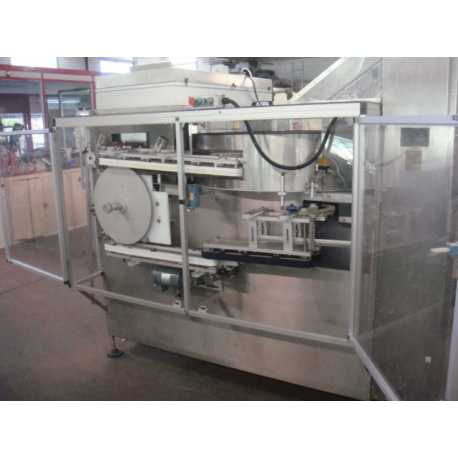Used NEM bottle unscrambler model MINI II second-hand cosmetic and pharmaceutical industrial equipment threequarter view