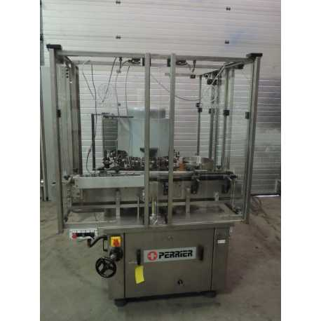 Used Perrier inspection machine model MCV 14/6 second-hand cosmetic and pharmaceutical industrial equipment front view