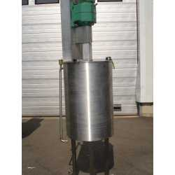 Used double jacket fully stainless steel melting tank 160L - Second-hand cosmetic and pharmaceutical industrial equipment front