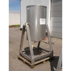 Used single jacket stainless steel tank 600L second-hand cosmetic and pharmaceutical industrial equipment