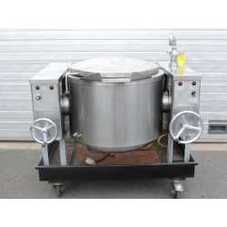 Used double jacket tilting melting tank 100L second-hand cosmetic and pharmaceutical industrial equipment front view