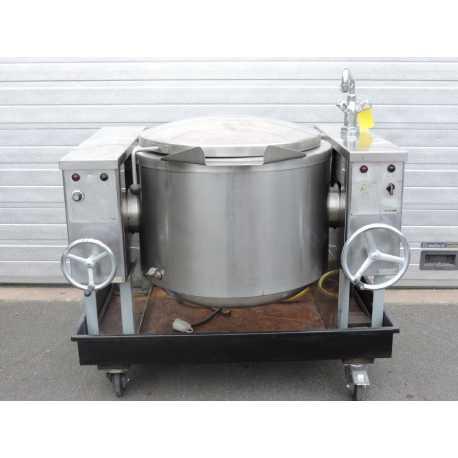 Fondoir basculant double enveloppe - Capacité 100L - Matériel industriel d'occasion - face