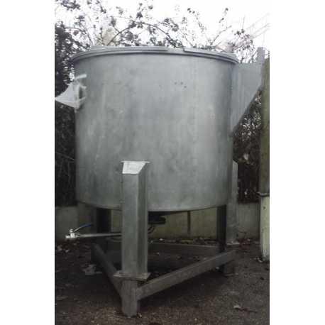 Cuve de stockage INOX 1000L - Matériel industriel d'occasion - vue de face