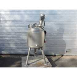 Used double jacket melting tank 80L second-hand cosmetic and pharmaceutical industrial equipment front view
