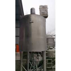 Used double jacket tank 1200L second-hand cosmetic and pharmaceutical industrial equipment outside view