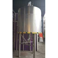 Used stainless double jacket tank 200L second-hand cosmetic and pharmaceutical industrial equipment front view