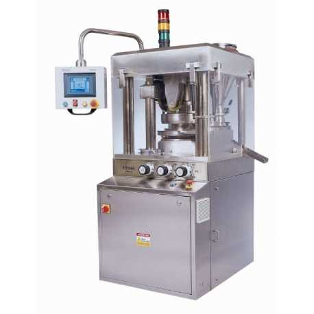 Automatic tablet press machine - New cosmetic and pharmaceutical industrial equipment front view