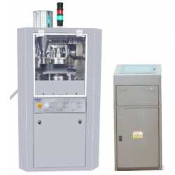 Rotary tablet press machine with D punches - New cosmetic and pharmaceutical industrial equipment
