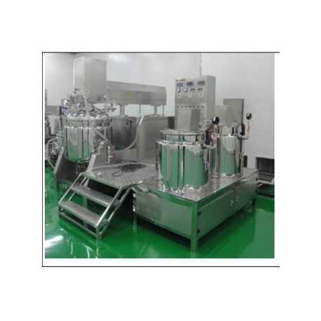 Vacuum emulsifying melting tank - New cosmetic and pharmaceutical industrial equipment