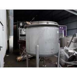 4186 - Fondoir Inox 1000L Libbrecht avec mélangeur et racleur