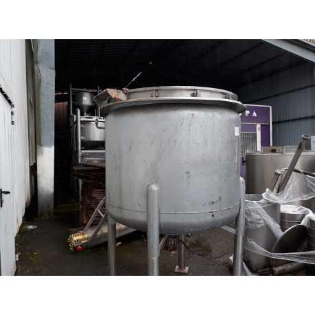 Fondoir Inox 1000L Libbrecht avec mélangeur et racleur d'occasion - vue du dessous
