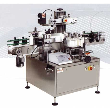 Automatic labelling machine model AP 535 Saturno 140 2 heads - New cosmetic and pharmaceutical packaging industrial equipment