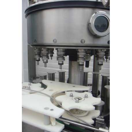 Used Stork automatic rotary filling machine - Second-hand industrial equipment - inside