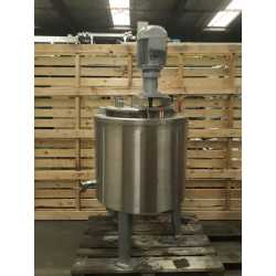 Used double jacket melting tank 100L second-hand cosmetic and pharmaceutical industrial equipment front view