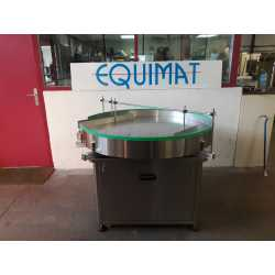 Distribution table mounted on casters - New cosmetic and pharmaceutical industrial equipment
