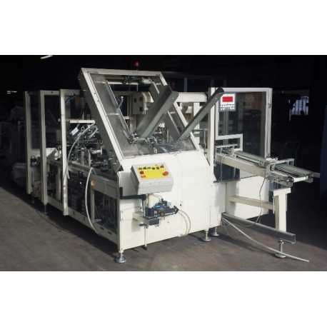 Used Cermex case packer model SL 11 with Nordson - Second-hand cosmetic and pharmaceutical equipment