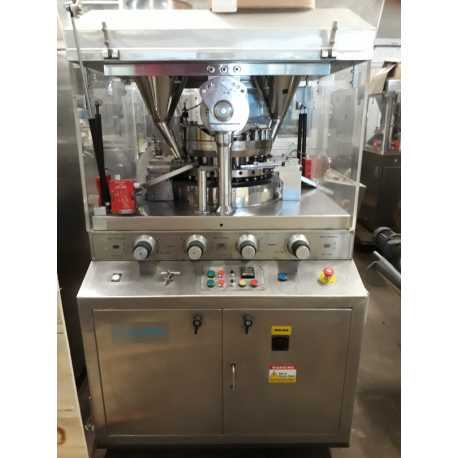 Rotary tablet machine - New cosmetic and pharmaceutical industrial production equipment