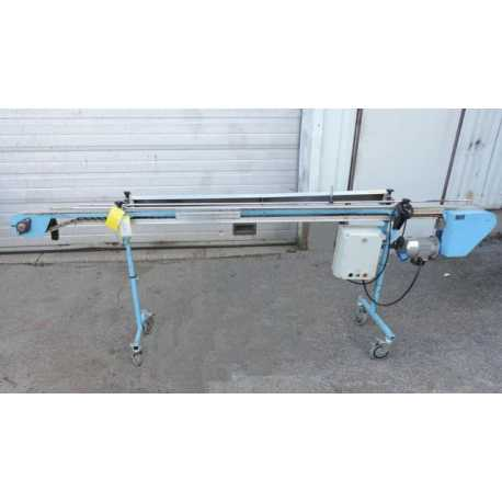 Used variable speed conveyor - Length 2.90 m - outside - Second-hand cosmetic and pharmaceutical equipment