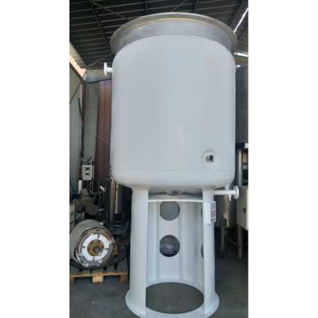 Used Temec stainless steel tank for pasty products 2500L second-hand cosmetic and pharmaceutical industrial equipment front view